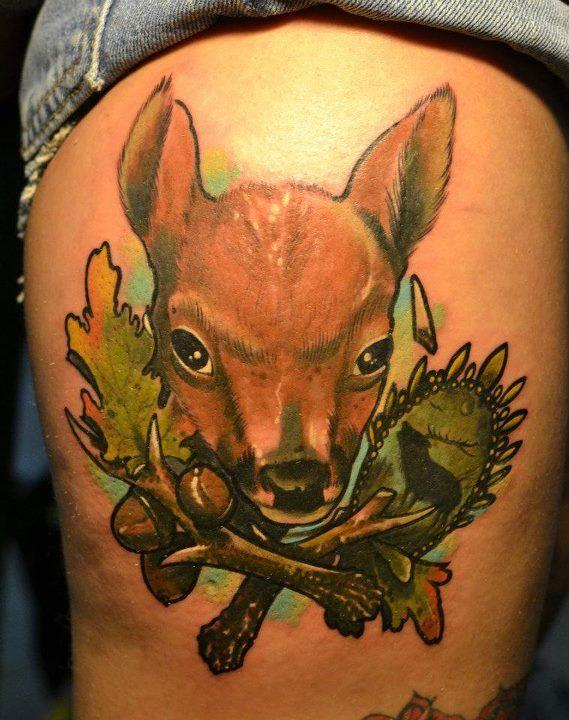 47 best deer tattoos images on pinterest deer tattoo stag tattoo and tattoo ideas. Black Bedroom Furniture Sets. Home Design Ideas