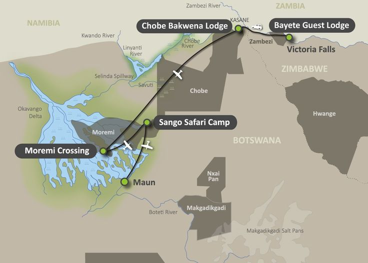 Map of the Botswana Focus Safari