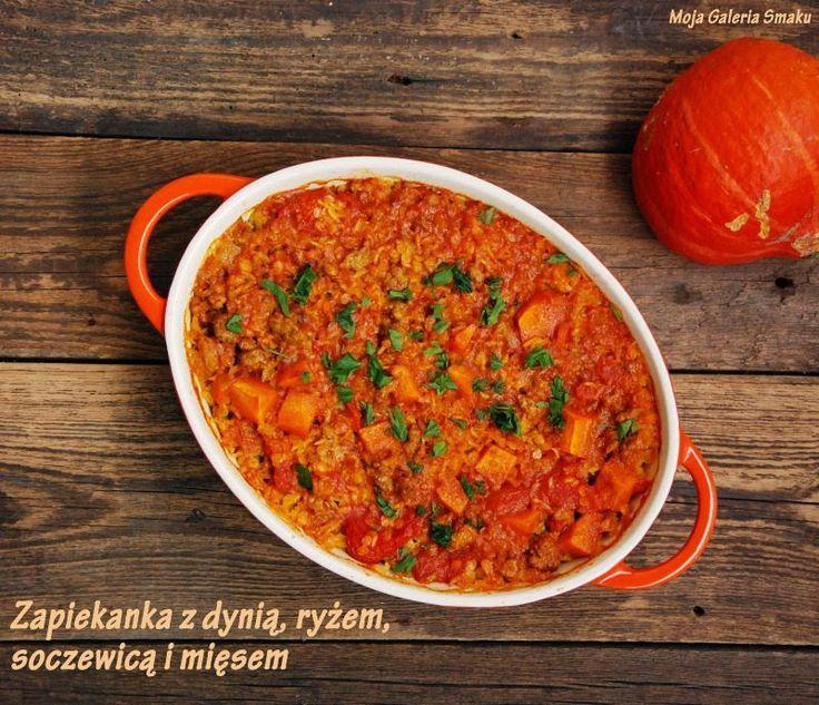 Zapiekanka z ryżem, soczewicą i dynią