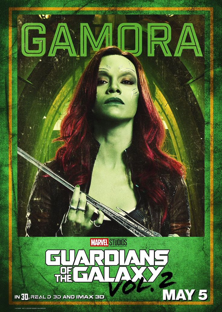 Poster Zoe Saldana - Guardians of the Galaxy 2