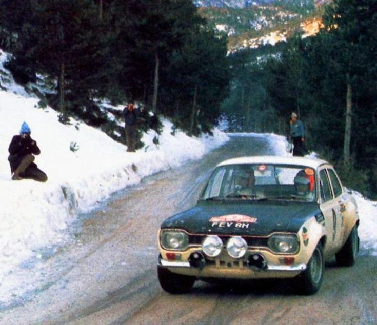 Hannu Mikkola/Gunnar Palm, 1970 Rallye Monte-Carlo, Group 2 Ford Escort TC. DNF.