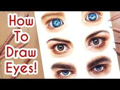 DRAWING EYES PART 1! Coloured Pencil Drawing Tutorial Episode 6 - YouTube