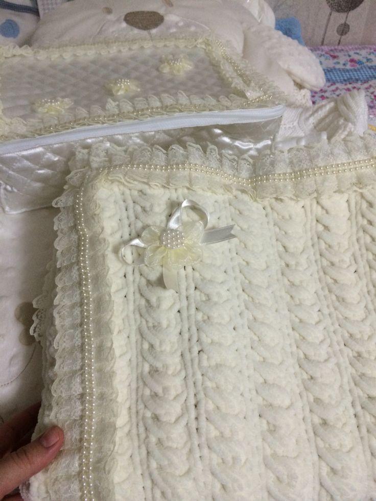 Bebek kadife ip battaniye