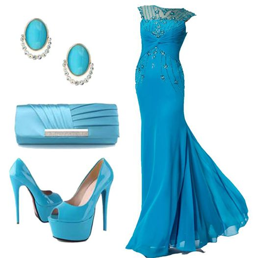 a dress, shoes and accessories