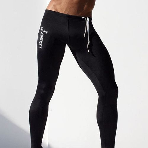 Men's Tight Elastic Slim Fitted Active Crossfit Workout Pants