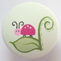 Ladybugs Knobs/Nail Covers (Green)