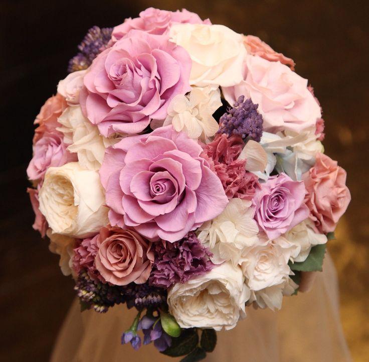 Wedding Bouquet / Preserved Flower / ウェディングブーケ / プリザーブドフラワー / パープル / ピンク