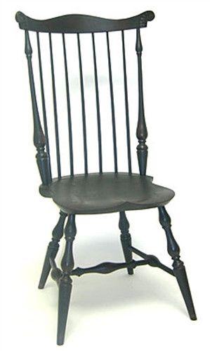 Lawrence Crouse New England Or Pennsylvania Tall Fan Back Windsor Arm Chair