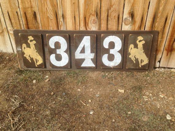 Wyoming Wood House Numbers University of Wyoming Go by girlinair