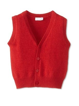 50% OFF Il Gufo Kid's Sweater Vest (Berry)