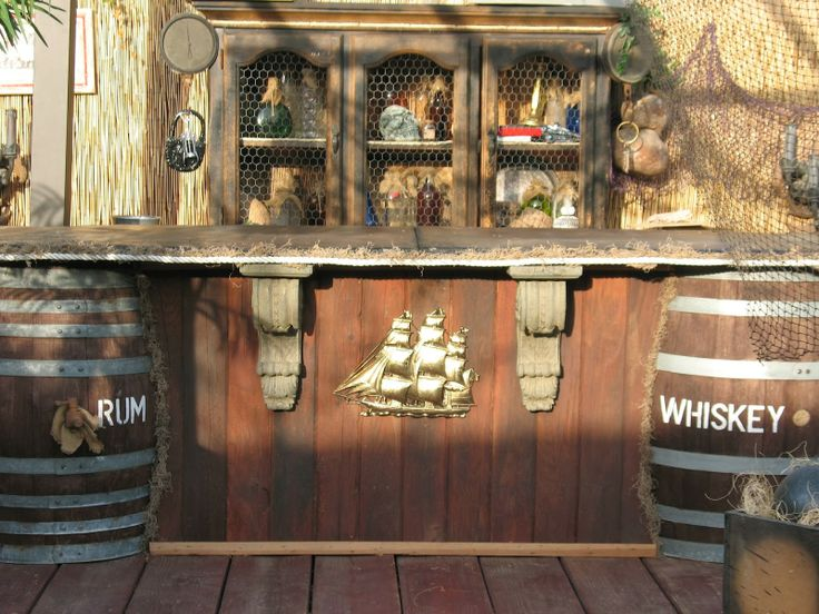 Man Caves Pirate Episode : Cement topped pirate bar loving it matt s man cave