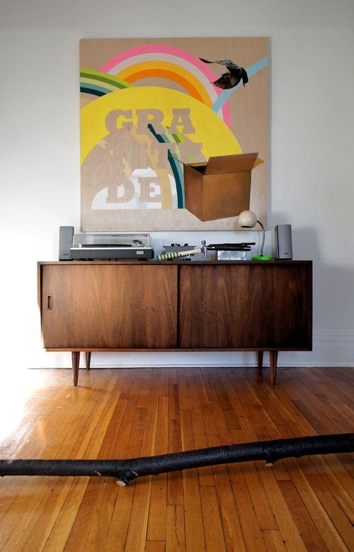branch: Bright Art, Houses Art, Furniture Redo, Consoles Tables, Design Bedrooms, Danishes Modern, Quirky Art, Bedrooms Decor, Art Pieces
