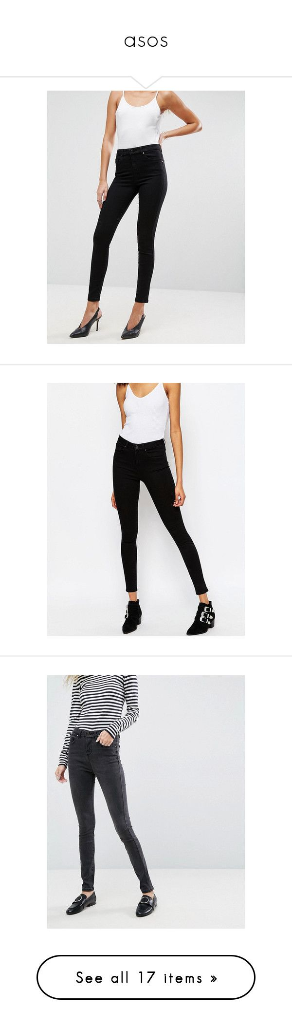 """""""asos"""" by o2amclub ❤ liked on Polyvore featuring jeans, stretchy jeans, skinny jeans, high rise jeans, super high rise skinny jeans, tall skinny jeans, blue, high rise skinny jeans, stretch skinny jeans and tall jeans"""