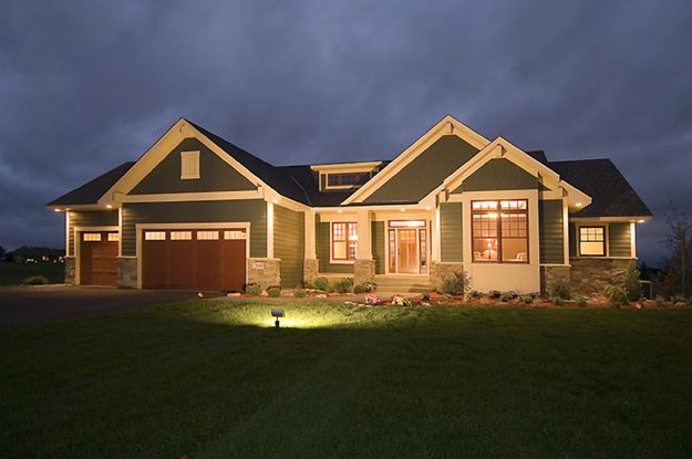 Charming 2 bedroom Craftsman style home with open floor plan .  Craftsman House Plan # 481154.