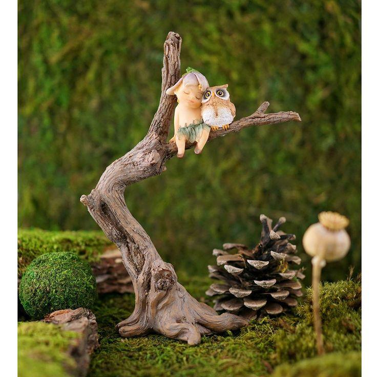 Miniature Fairy Garden Sprite with Owl