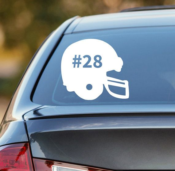 Football decal personalized football decal football car decal sports decal laptop sticker laptop decal vinyl decal football sticker