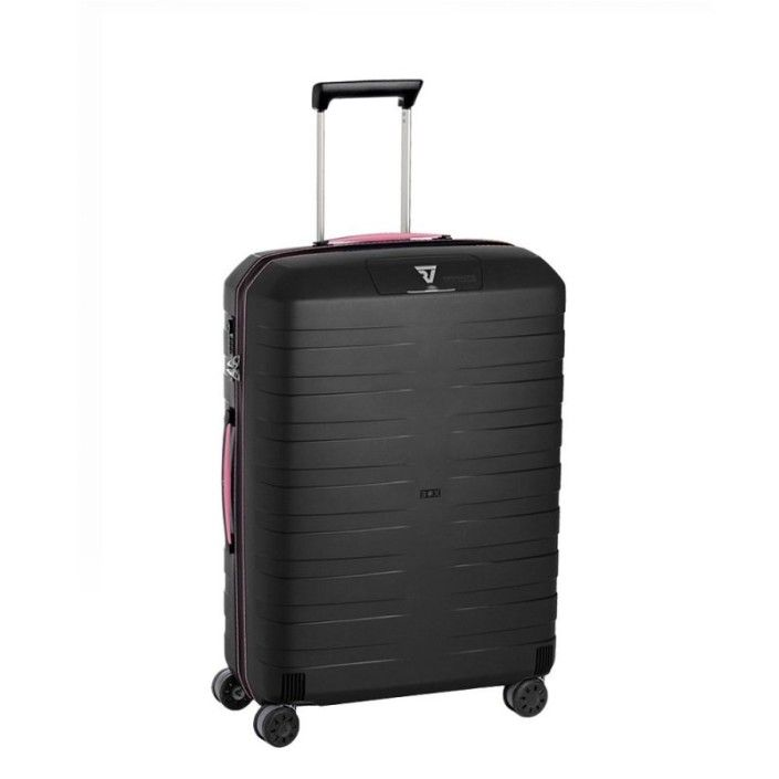RONCATO BOX Trolley Medio 4 Ruote Nero/Fucsia