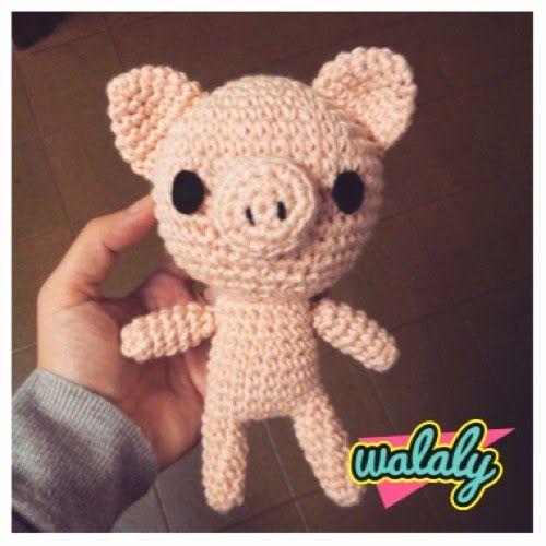 Patrón Cerdito Piggy a crochet
