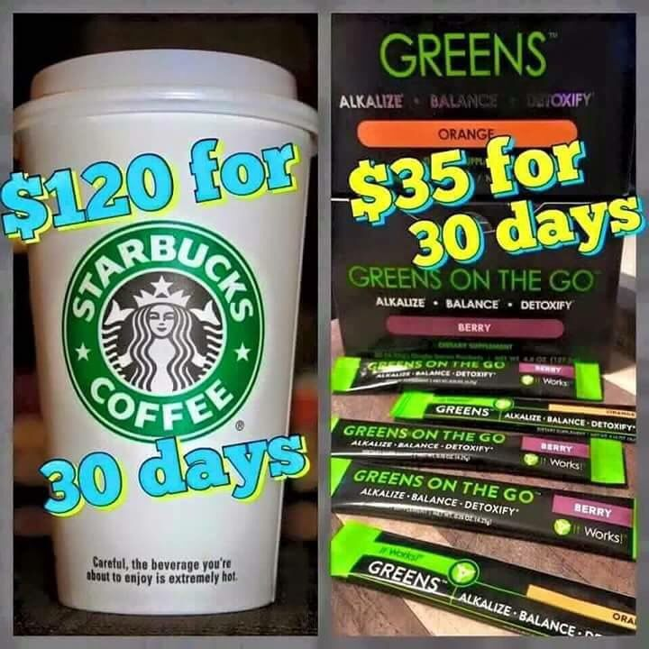Not eating all of your fruits and veggies that you should? Feeling sluggish and off balance? Want more energy to get through the day? Needs some help with❄cold season? Give #Greens a go!  Comment below to get them at MY PRICE !    *Individual results can and will vary. It Works! cosmetic products are purely cosmetic in nature and do not claim to cure/treat/prevent any skin & hair related disorders. If you are allergic to soy, wheat or any ingredients listed, or are under treatment or o