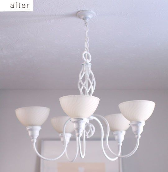 Before & After: Simple Chandelier Transformation