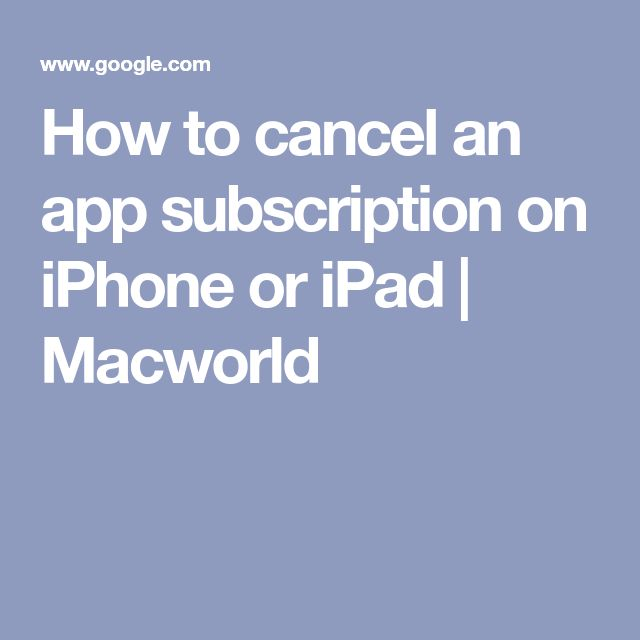How to cancel a subscription on iPhone or iPad Settings