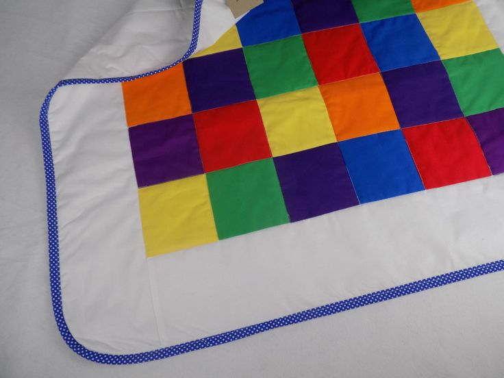Rainbow Crib Set Crib Bedding Rainbow Quilt by AngiesPatch on Etsy
