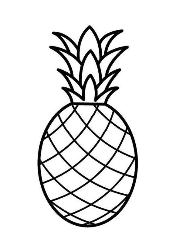 Title Com Imagens Frutas Para Colorir Desenho Abacaxi