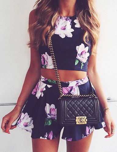 #summer #fashion / floral + floral