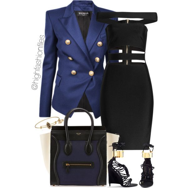 Blues Clues by highfashionfiles on Polyvore featuring Balmain, Alex and Ani, Tom Ford, women's clothing, women's fashion, women, female, woman, misses and juniors