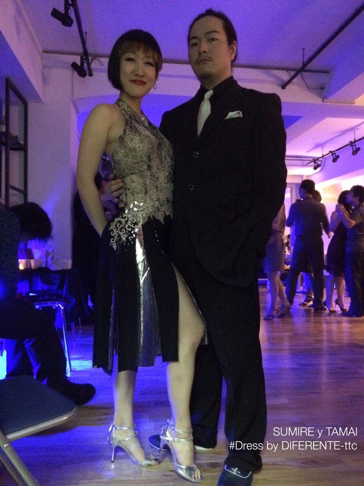 Japanese tango dancer Sumire yTamai. Sumire's dress made by  DIFERENTE tokyo tango clothes.