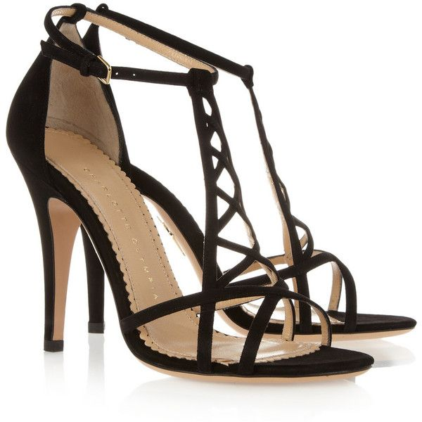 Charlotte Olympia Marianne suede sandals ($860) via Polyvore