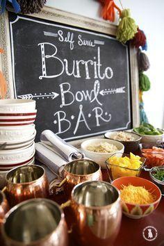 Cinco de Mayo Party Idea: Self-Serve Burrito Bowl Bar!
