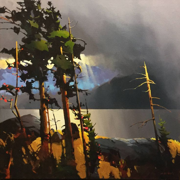 "Michael O'Toole -STORM FRONT - HOWE SOUND MOT033 acrylic, canvas 36"" x 36"""