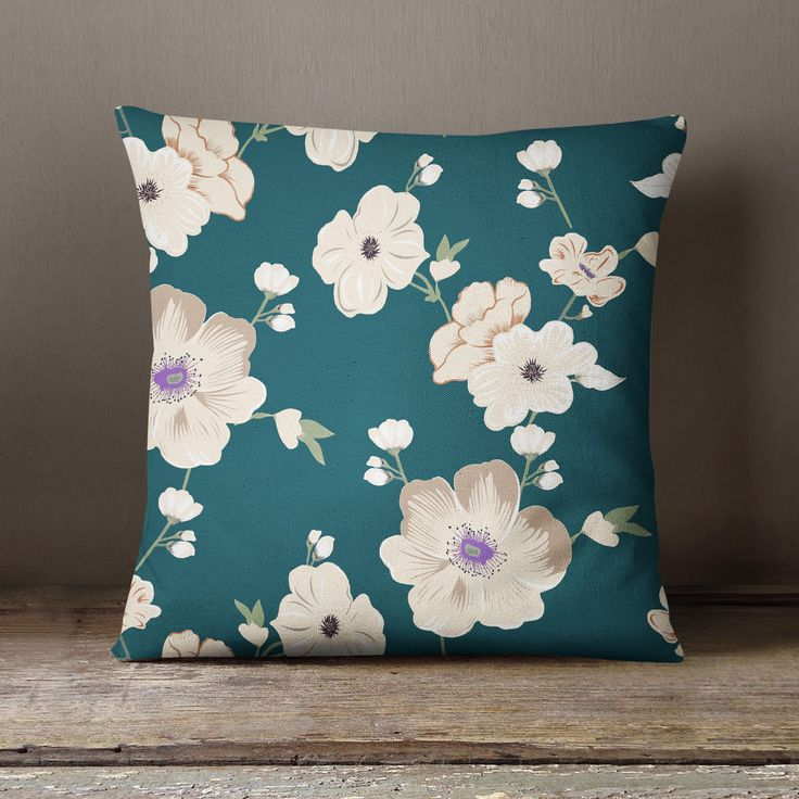 S4Sassy Green Cushion Cover Home Decorative Floral Print Pillow Case