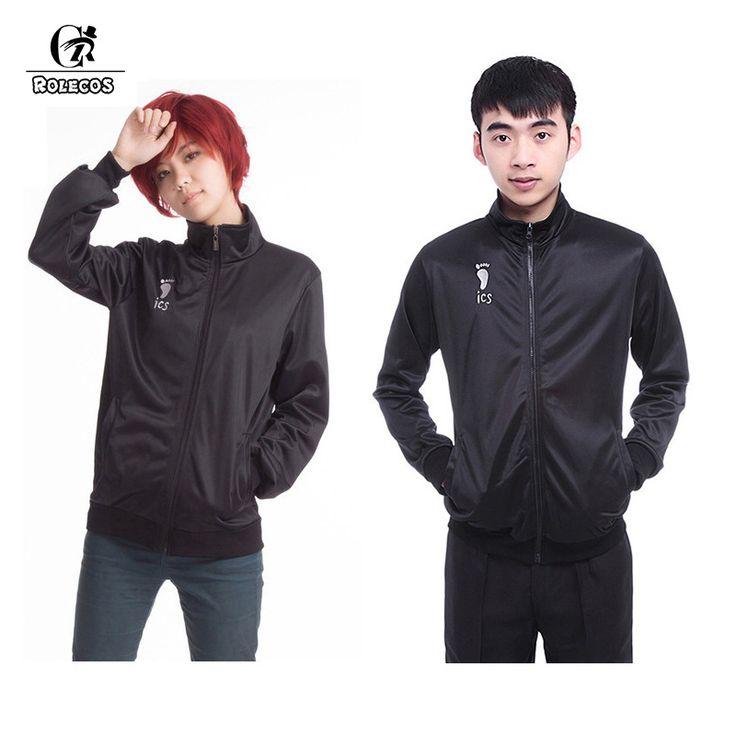 ROLECOS Anime Haikyuu!! Uniform Karasuno High School Volleyball Club Men Boy Jacket Clothes Cosplay Costumes Sportswear CC311A