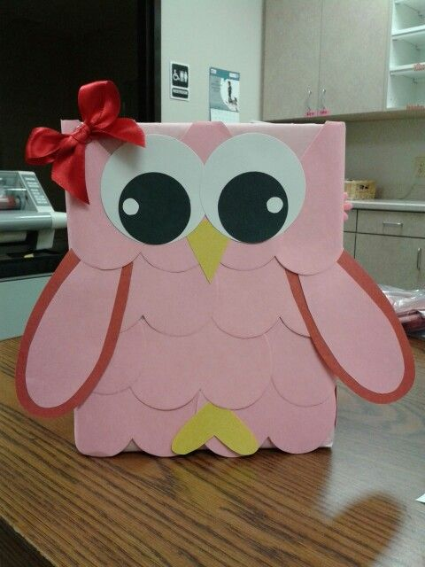 Valentine box I made. Owl #1