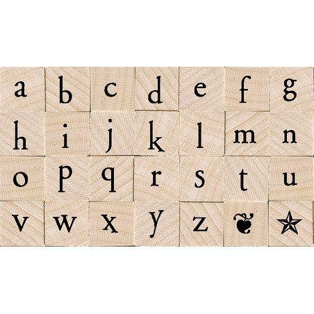 """Hero Arts Mounted Rubber Stamp Set 2.8""""X1.8""""-Printer's Type - printer's type lowercase"""