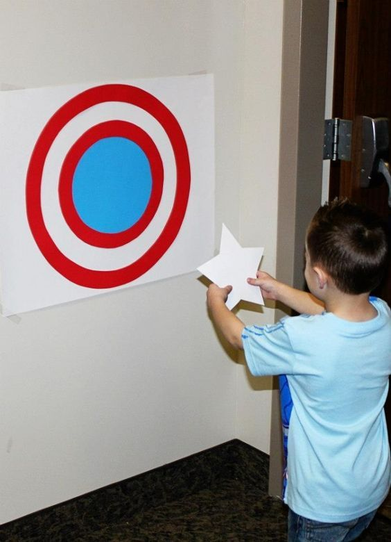 Avengers party ideas - Captain-America-pin-the-star