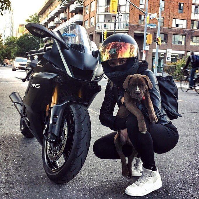 @alinacateyka #BikeQueens #Yamaha #R6 #BikeKingz- Vanessa Thibault-#hondamotorcy…