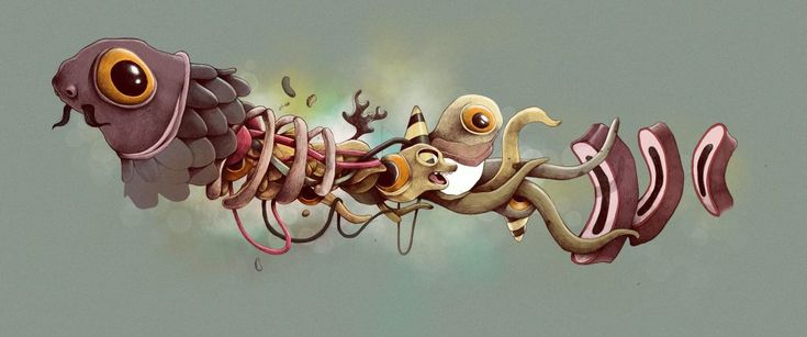 """Monsters"", las extrañas criaturas ilustradas que se pasean por Chernóbil - La Criatura Creativa"