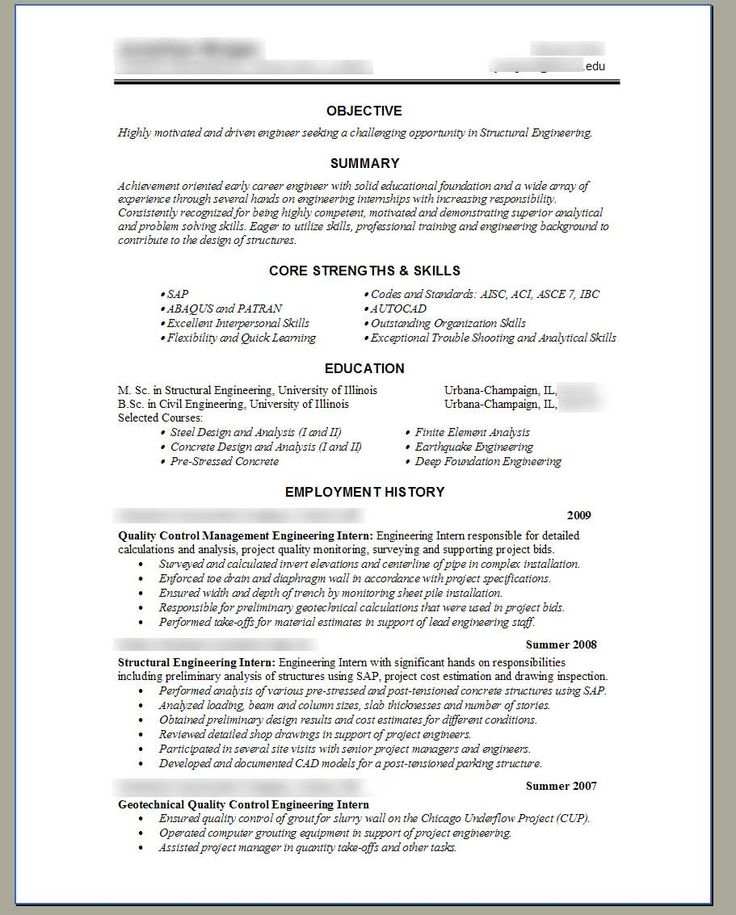 Canadian geotechnical resume
