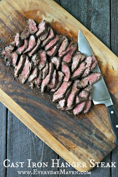 Cast Iron Hanger Steak: This Cast Iron Hanger Steak is not complicated and uses an easy to make rub that I've previously posted called Cowboy Rub. Simple paleo, grain free and low carb meal, just pair it with salad!