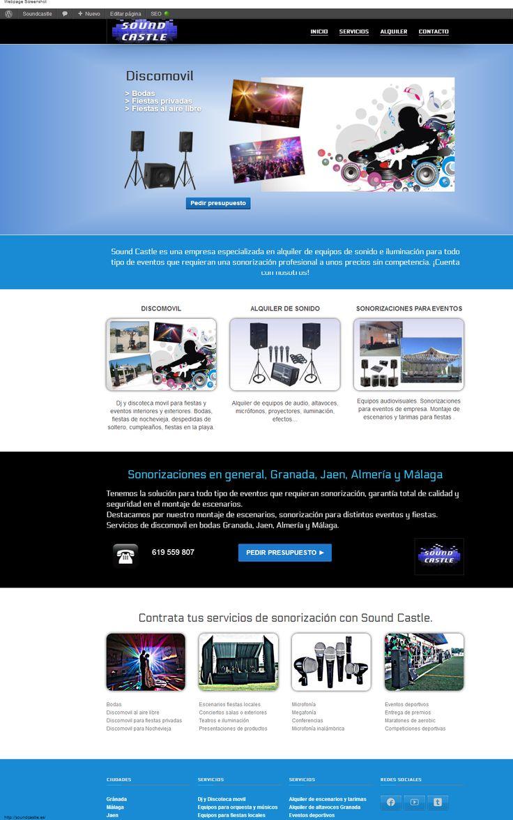 http://soundcastle.es, Alquiler de equipos de sonido e iluminación en Granada, Jaen, y Málaga