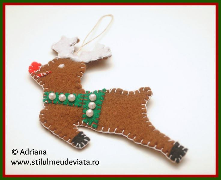Christmas decoration: reindeer felt / Ren din fetru