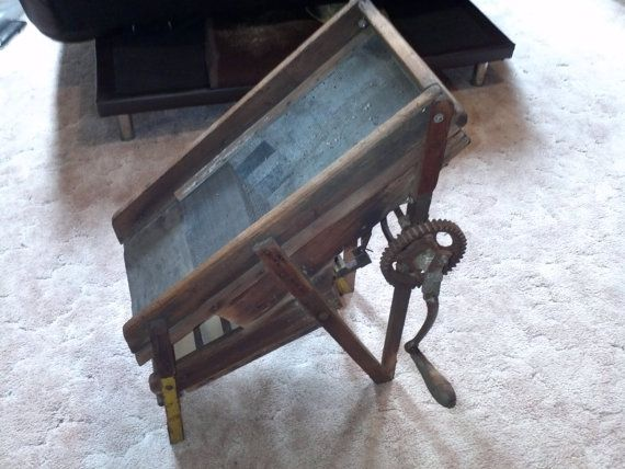 1920 S Antique Dry Gold Sluice Box Handmade By