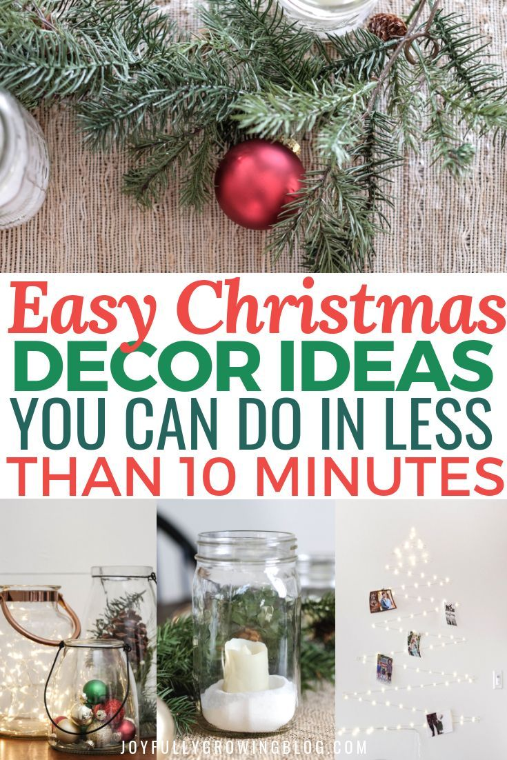 Easy Christmas Decor Ideas You Can Do On A Budget Affordable Christmas Decorations Simple Christmas Decor Homemade Christmas Decorations