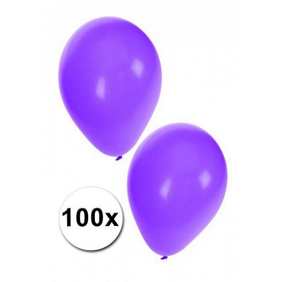 100 grote paarse ballonnen. Het formaat van deze paarse ballonnen is ongeveer 27 cm. Deze paarse feest ballonnen zijn geschikt voor helium of lucht. Ballonnen in het paars kunt u ook bestellen in kleinere aantallen. Versier uw party met paarse feest ballonnen.