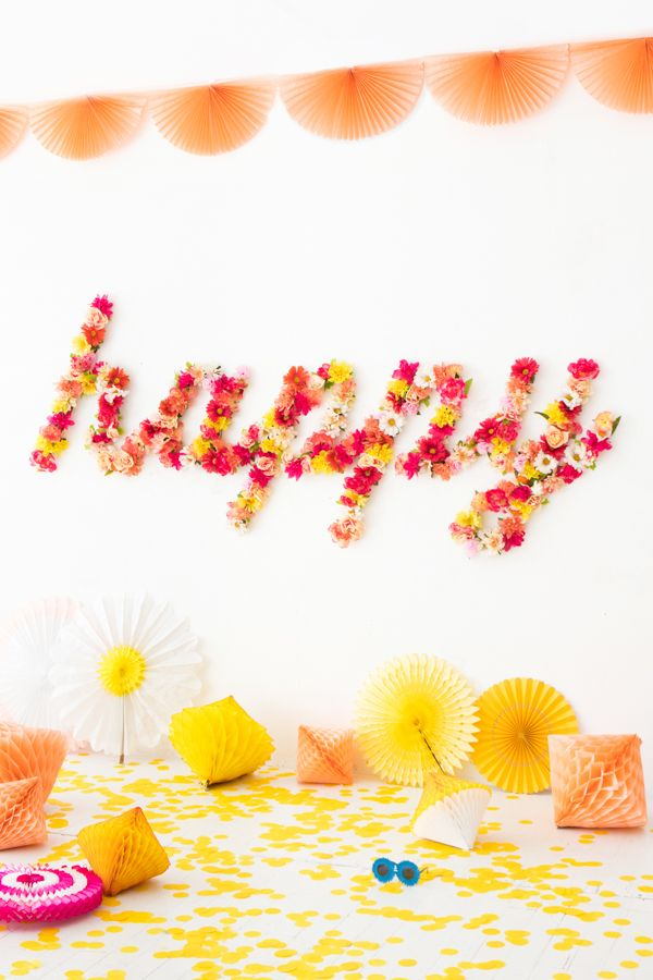 Floral Word Backdrop | Oh Happy Day!