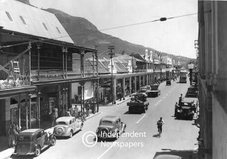 Main Road, Claremont, Cape Town, early 1940's.