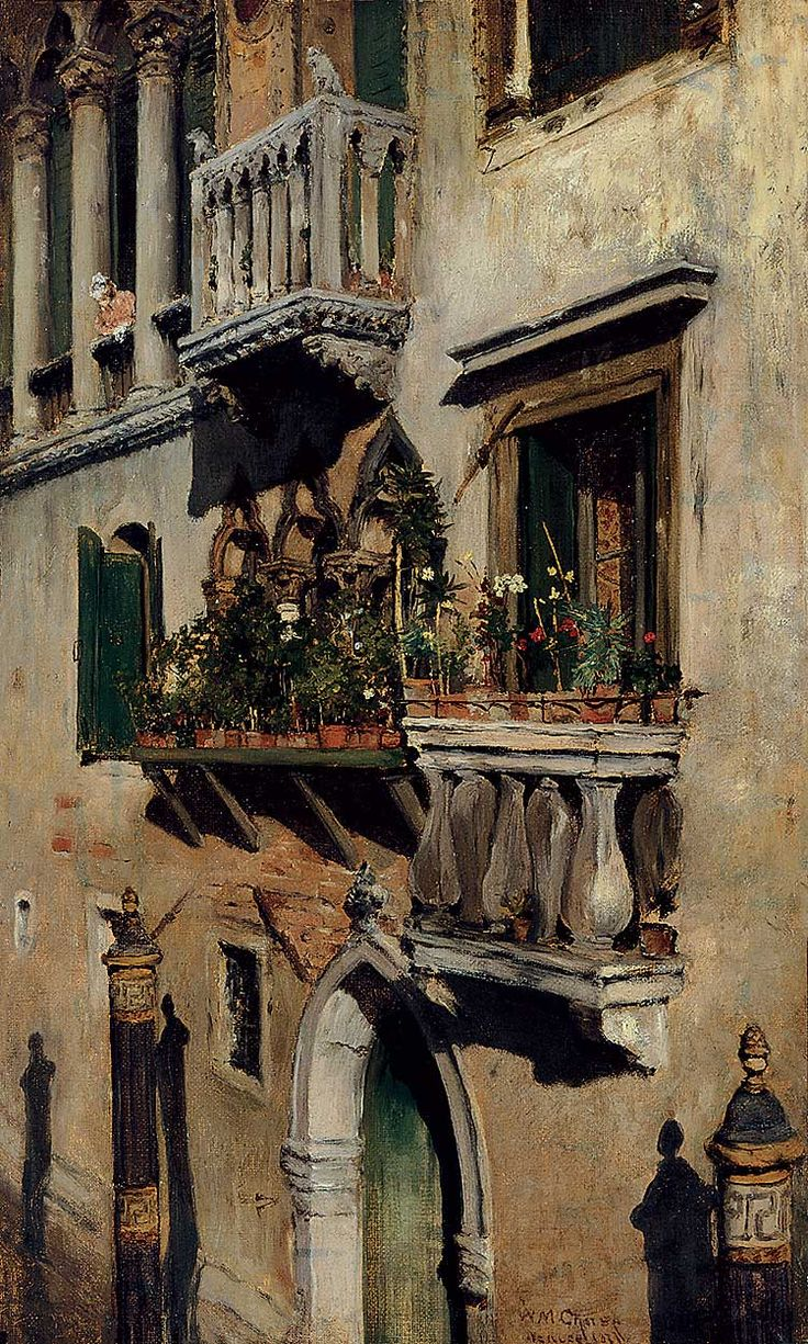 Venice, 1877, William Merritt Chase. American (1849 - 1916)